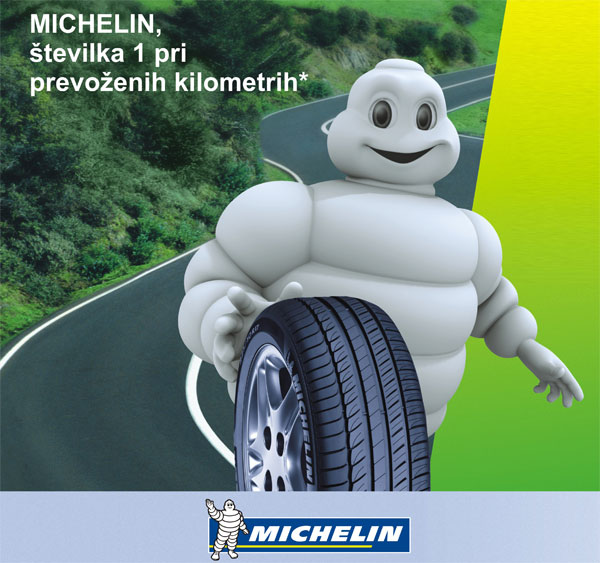Pneumatic center Zorman - Michelin številka 1 pri prevoženih kilometrih